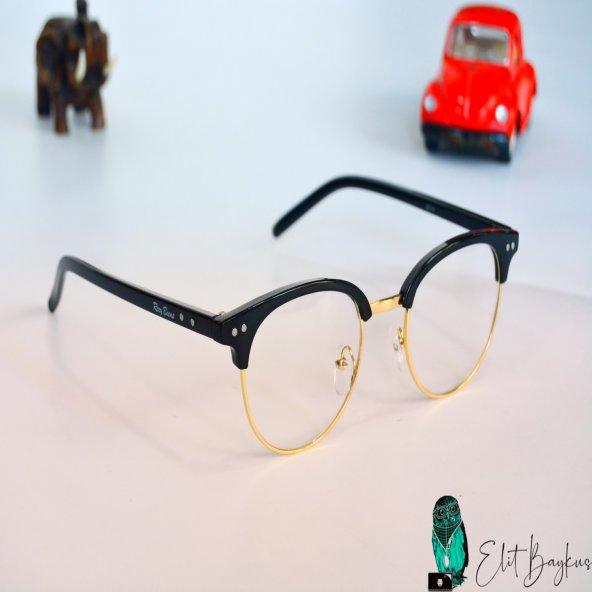 Şeffaf Camlı Şık Gözlük
