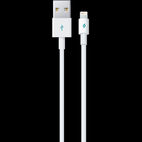 Ttec iPhone Lightning Data Şarj Kablosu - Beyaz