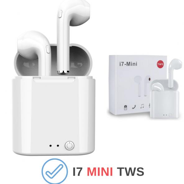 i7 TWS Mini Bluetooth 5.0 Kablosuz Kulaklık Apple İphone Samsung iOS Android Uyumlu