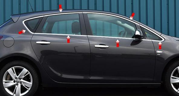 Opel Astra J Hb Kromlu Cam Çerçevesi 2015-2018 Astra J Cam Çıtası