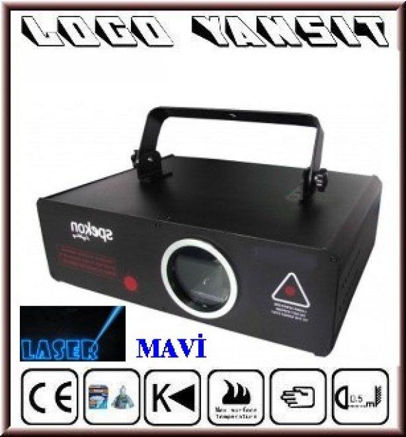 Logo Yansıt Mavi Lazer Stager N019 ile Yazı ve Grafik Resim Yansıt  (Bilgisayar Kontrollü)