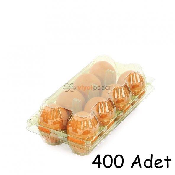 8 Li Yeşil Plastik Yumurta Viyolü 400 Adet