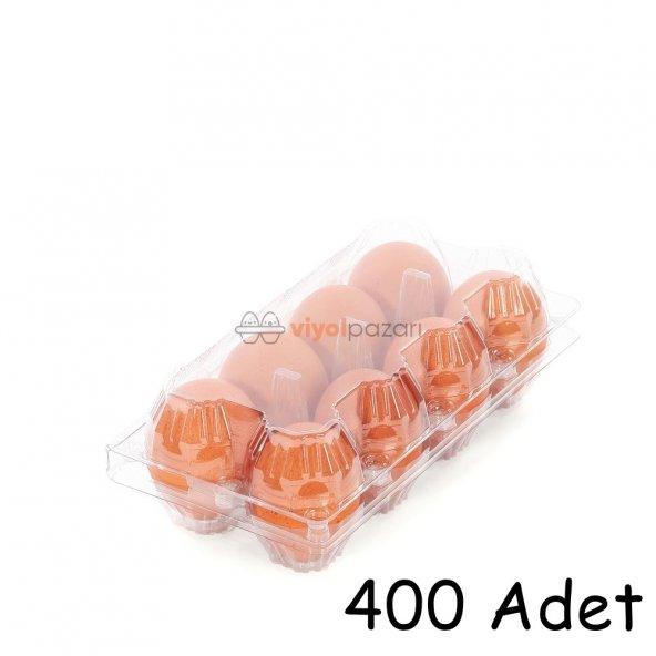 8 Li Şeffaf Yumurta Viyolü 400 Adet