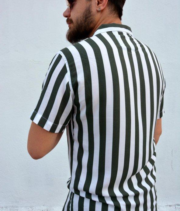 erkek çizgili gömlek 2019