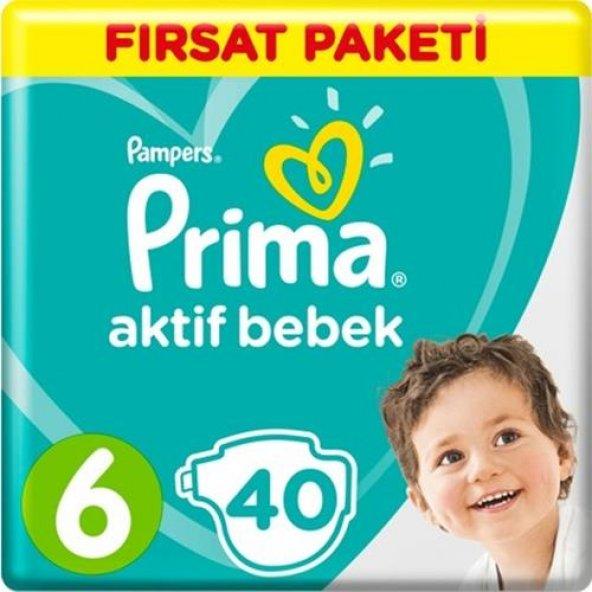 Prima Bebek Bezi A.Bebek 6 Beden 13-18 Kg 40 Adet