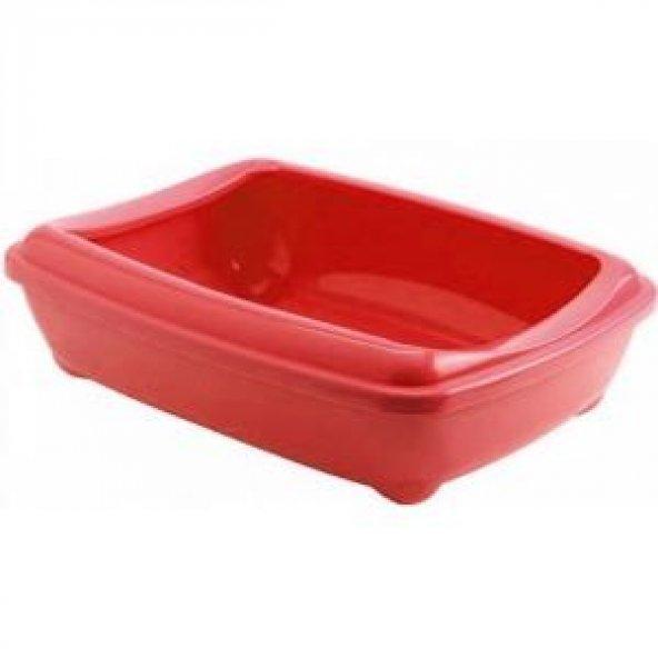 Ans Kedi Tuvalet Kabı Kırmızı 12*37*42 cm + Kürek Hediyeli
