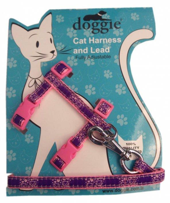 Doggie Gülücük Kedi Göğüs Tasması 22/36 cm Pembe