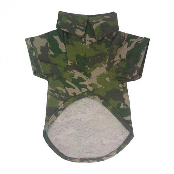 Köpek Kıyafeti Esnek Kumaş Kamuflaj Desen 23*45 cm XLarge
