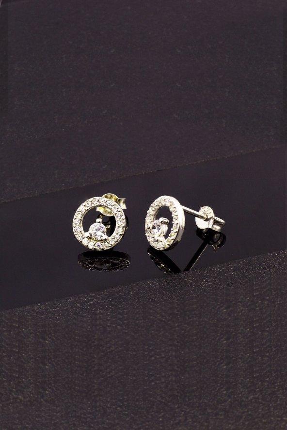 Cigold Gümüş Çivi Küpe K3GKP113008672
