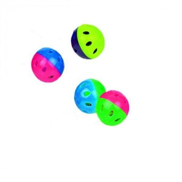 Nobby Çıngıraklı Renkli Plastik top 4 cm