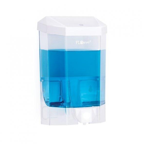 Flora Plastik Büyük Şeffaf Sıvı Sabunluk F086