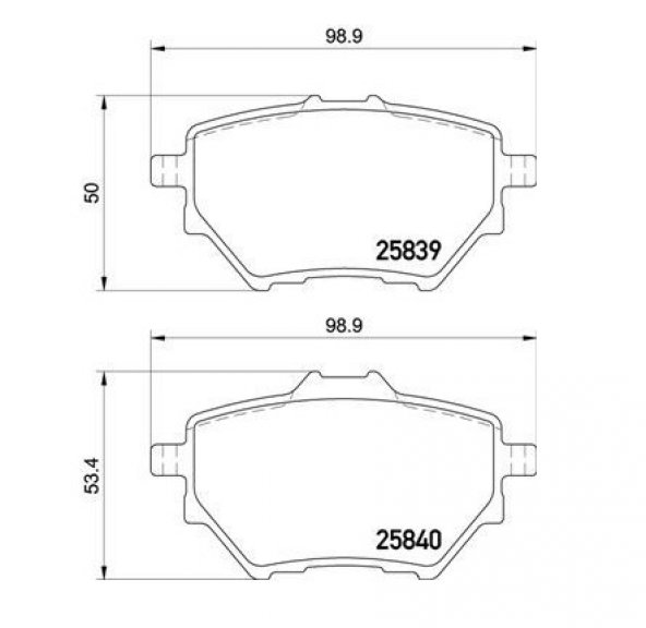 Arka Fren Balatası Peugeot 308 II 1.2 VTI 1.2 THP 1.6 HDI 2.0 HDI 2013 Sonrası Citroen C4 Picasso II