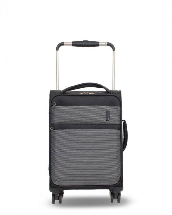 IT Luggage Kabin Boy Kumaş Valiz Siyah & Beyaz 2058