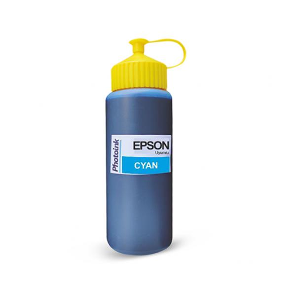 Epson Plotter İçin Uyumlu 500 ml Pigment Cyan Photoink Mürekkep