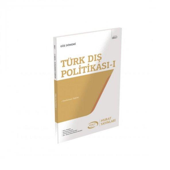 Aöf Türk Dış Politikası - I  güz dönemi Konu Anlatımlı Soru Kitabı Tek  Murat Yayınları