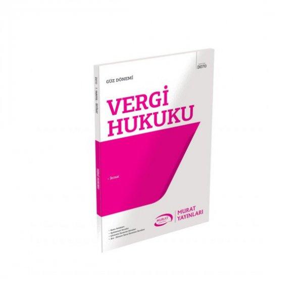 Aöf Vergi Hukuku güz dönemi Konu Anlatımlı Soru Kitabı Tek  Murat Yayınları