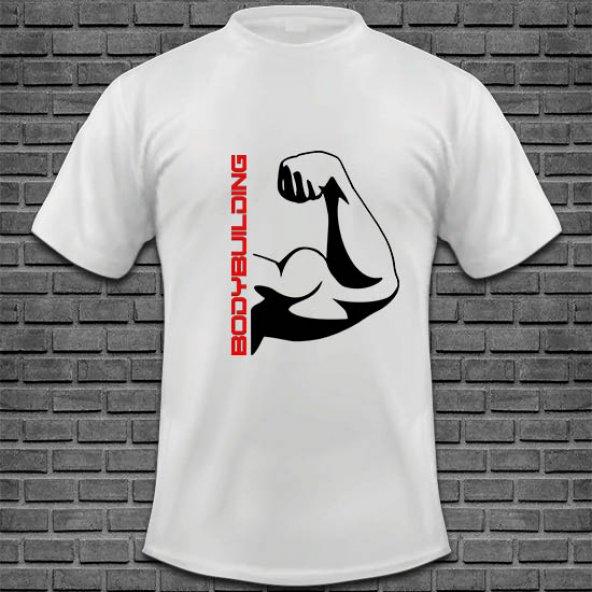 Bodybuilding Baskılı Tişört Tasarımı BODY-007