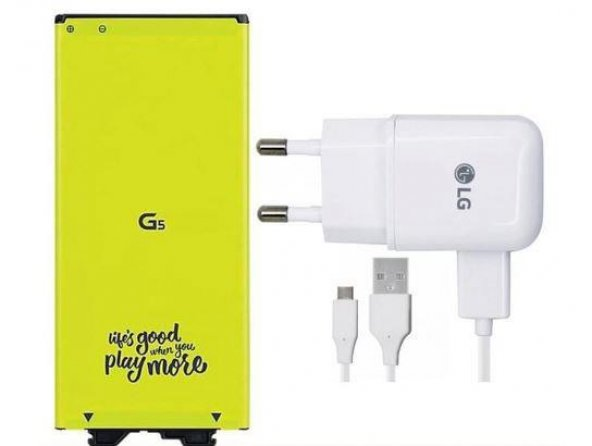 LG G5 Batarya BL-42D1F + Hızlı Şarj Aleti Cihazı 1.8A 9V