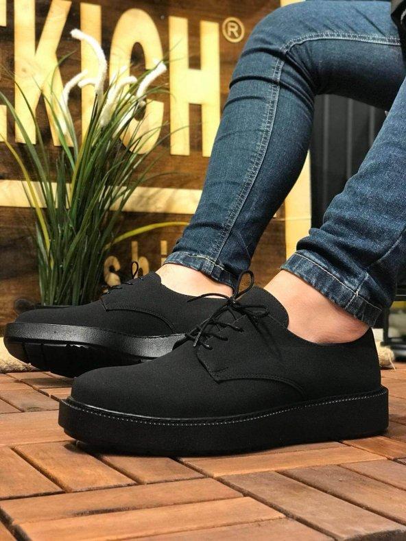 Chekich CH001 Süet Siyah Taban Erkek Ayakkabı SİYAH