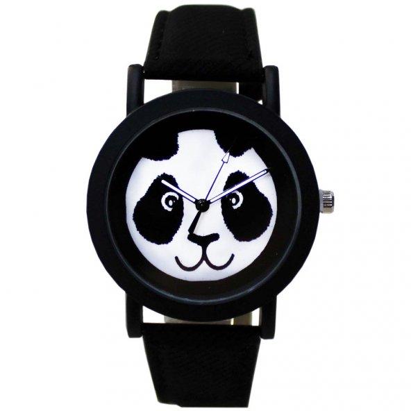 Panda Siyah Kol Saati