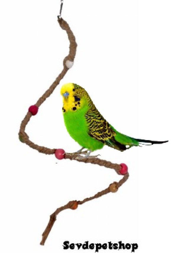 Boncuklu Tel Kuş Oyuncağı