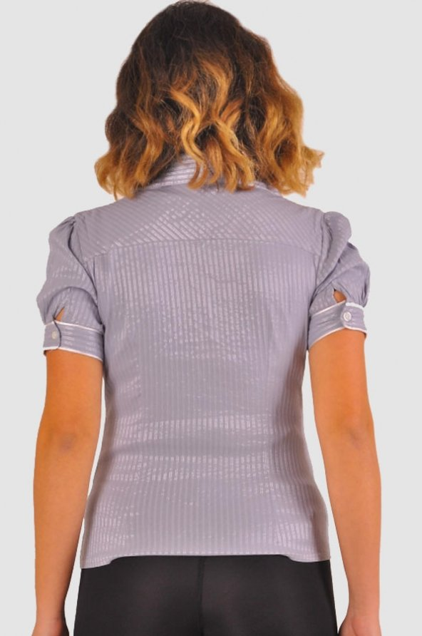 Bayan gri gömlek 4010-2-213