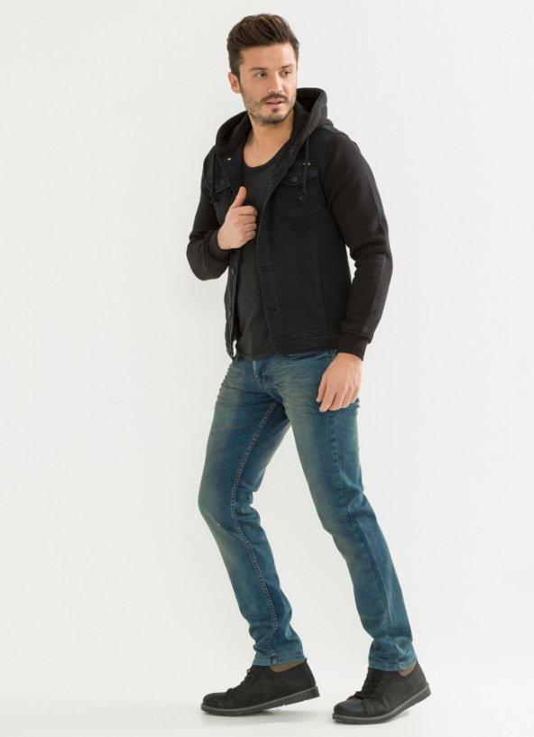 Yıkamalı Erkek Kot Pantolon