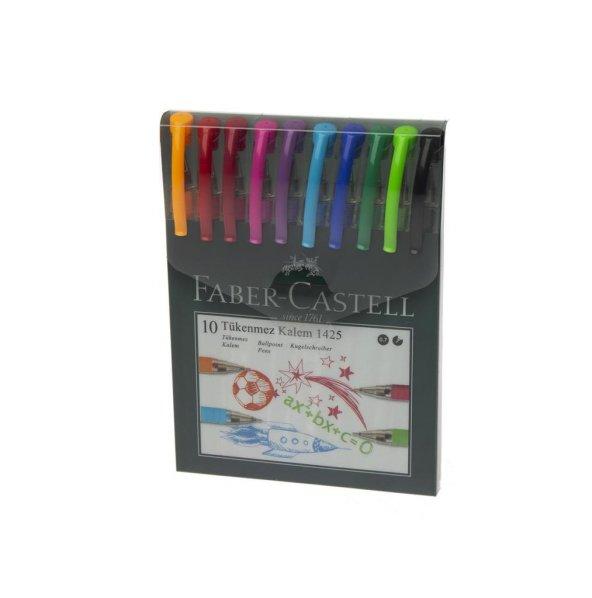 Faber Castell 10 Renk Tükenmez Kalem Ailesi 12 li