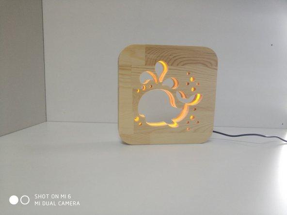 Masif 3D Dekoratif Gece Lambası