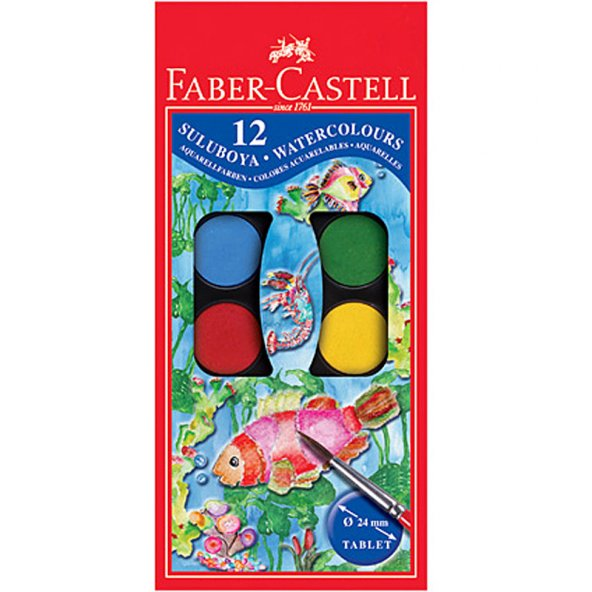 Faber-Castell Suluboya 12 Renk Küçük Boy