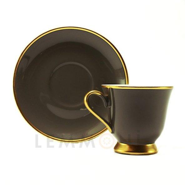 Bohemia Türk Kahvesi Seti 6lı Colours Koyu Kahve