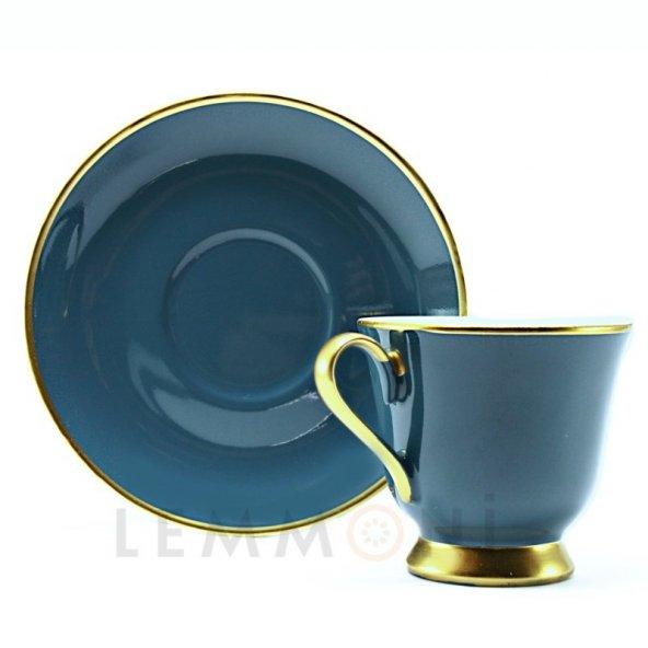 Bohemia Türk Kahvesi Seti 6lı Colours Koyu Mavi