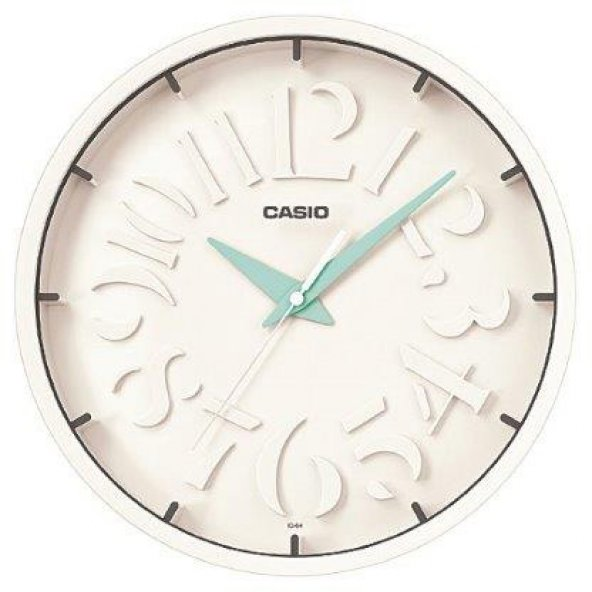 Casio IQ-64-2DF Duvar Saati ERSA Garantili Beyaz Kadran