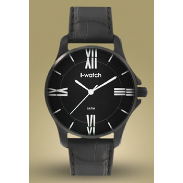 İ-Watch 55350 Siyah Kasa Küçük Kasa Spor Saat