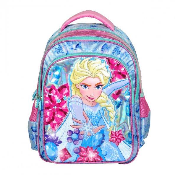 Frozen Elsa Lisanslı Okul Çantası-HAKAN ÇANTA