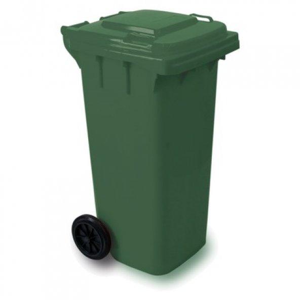 120  Lt Plastik Yeşil Çöp Konteyner A.SINIF ÜST KALİTE  FATURALI