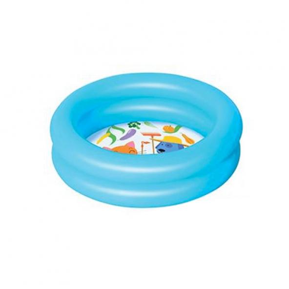 Bestway 51061 2 Halkalı Renkli Çocuk Havuzu Mavi