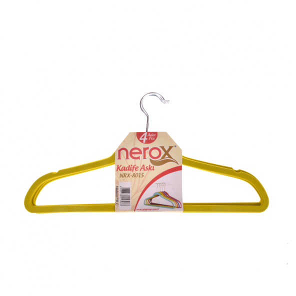 NEROX 4LÜ SARI KADİFE ASKI NRX-8015