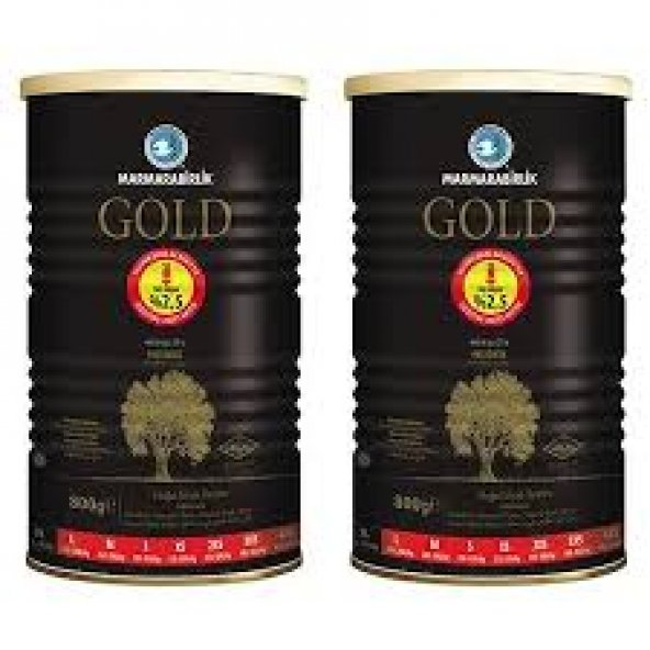 MARMARABİRLİK GOLD 800+800 GR XL 201-230 KALİBRE SİYAH ZEYTİN