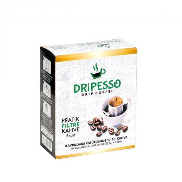 Dripesso Pratik Filtre Kahve 5 Li Paket