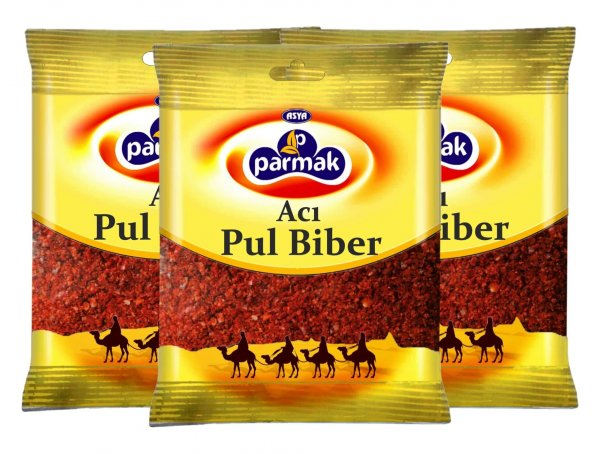 Acı Pul Biber 75gr (3 adet) Parmak baharat