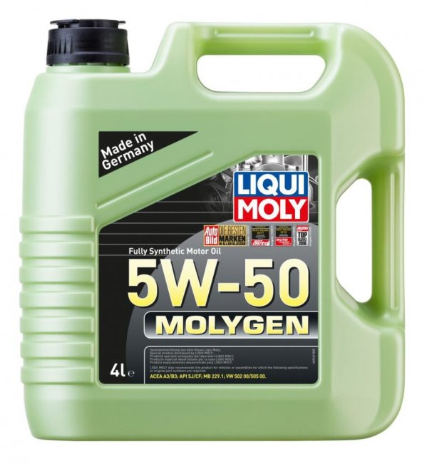 Liqui Moly Molygen 5W-50 Full Sentetik Motor Yağı 4 lt. 2543
