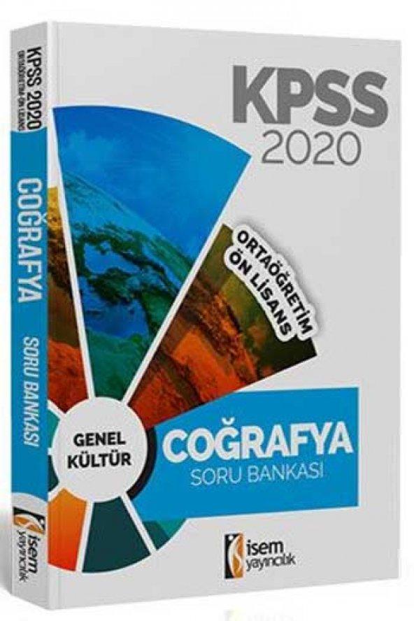2020 KPSS Ortaöğretim Ön Lisans Coğrafya Tamamı Çözümlü Soru Bankası İsem Yayıncılık