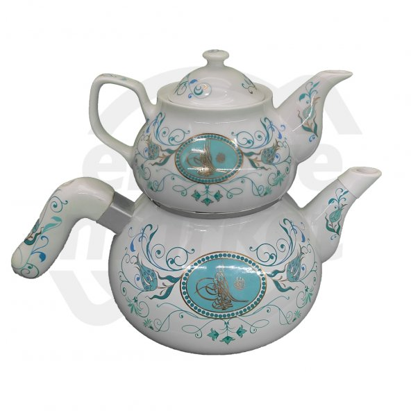 Eftalya Emaye Porselen Çaydanlık Mavi