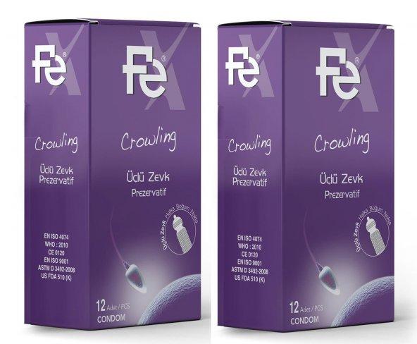 Fe Prezervatif Üçlü Zevk 12li 2 Adet
