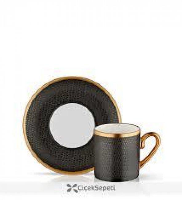 Koleksiyon Eva Türk Kahvesi 6 Lı Serpantin Siyah