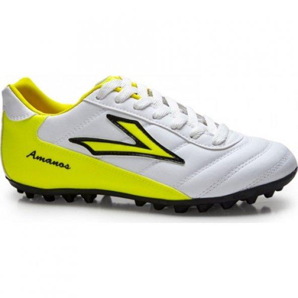 Lig Amanos Halı Saha Ayakkabısı Beyaz - Sarı