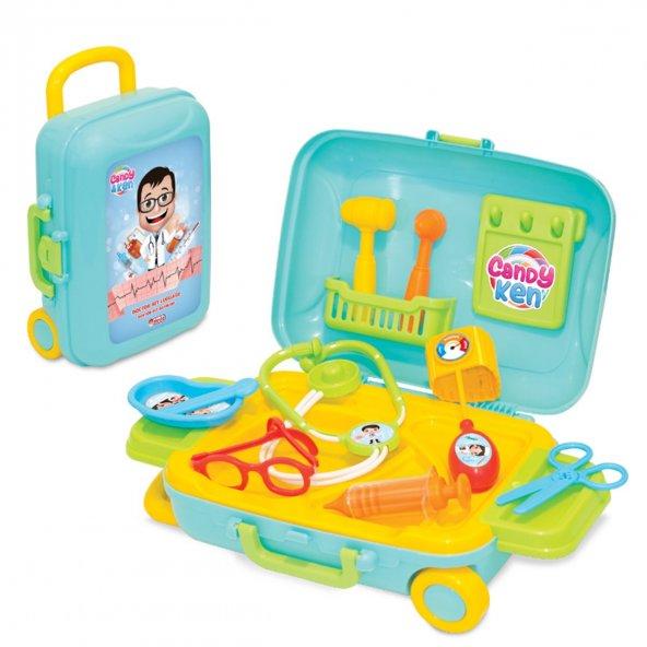 Dede Candy&Ken Oyuncak Doktor Set Bavulum 10 Parça Yerli Üretim Doktor Seti