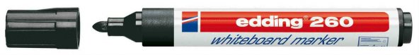 Edding 260 Beyaz Tahta Kalemi Siyah Board Marker