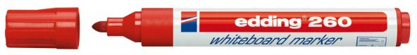 Edding 260 Silinebilir Yazı Tahtası Kalemi Board Marker 10 Adet Kırmızı ÜCRETSİZ KARGO